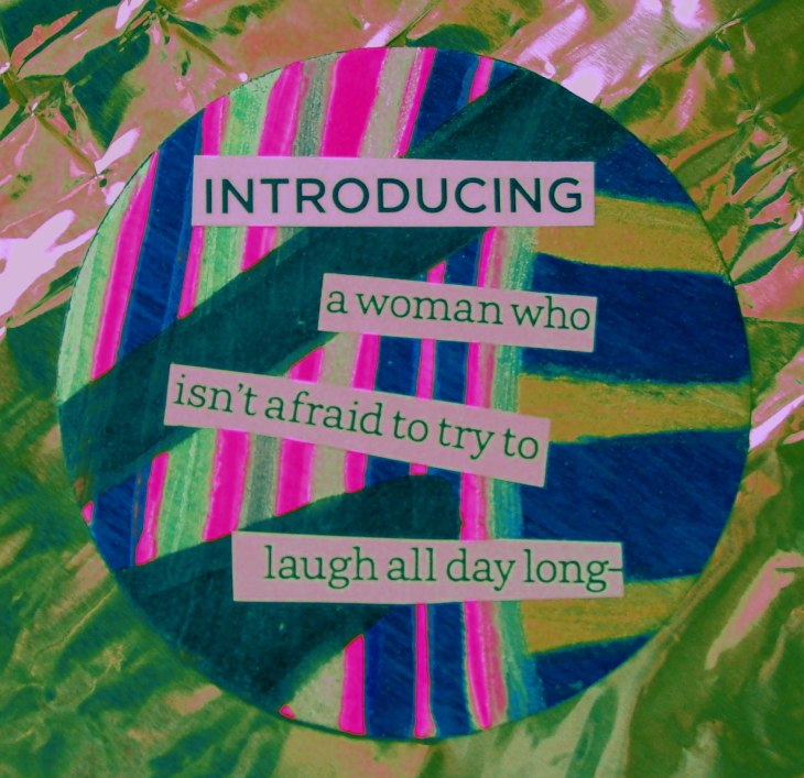 woman laugh words